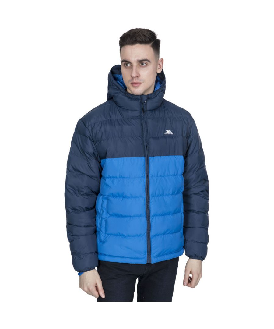 Image for Trespass Mens Oskar Insulated Padded Quilted Hooded Jacket