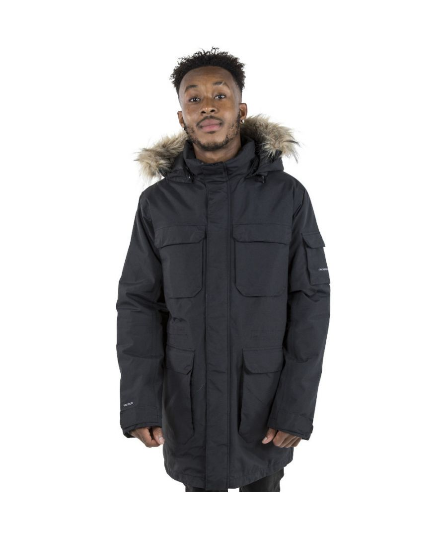 Image for Trespass Mens Pixilation Waterproof Insulated Parka Jacket