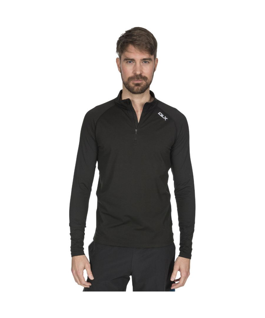 Image for Trespass Mens Tierney Quick Drying Half Zip Fleece Jacket