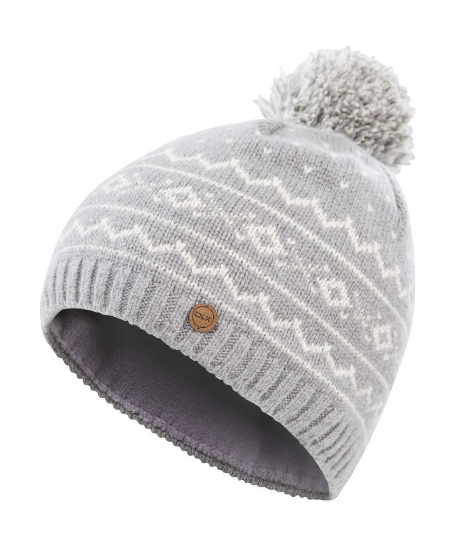Image for Trespass Mens Holbray DLX Merino Knitted Pom Pom Beanie