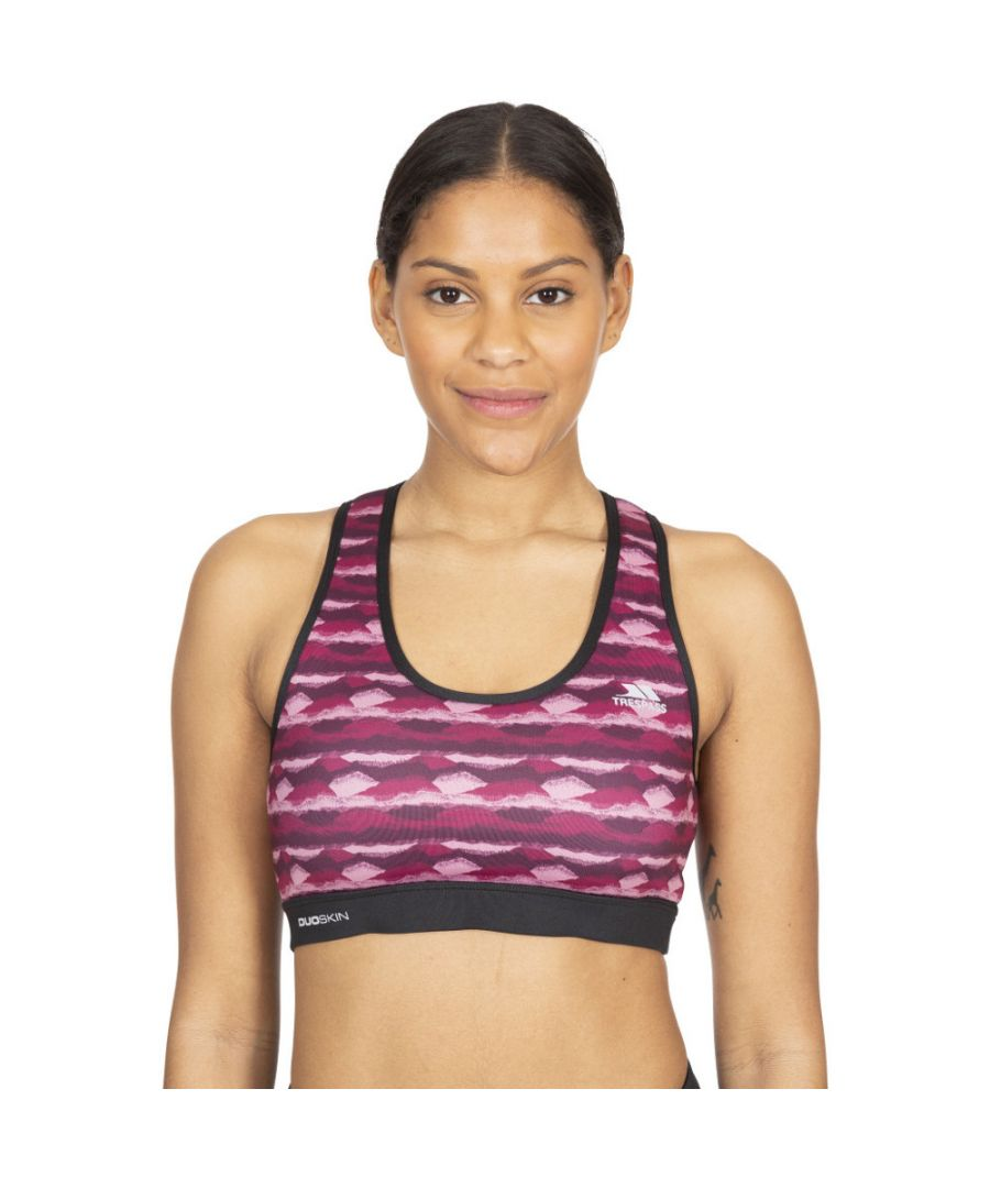 Image for Trespass Womens Esme Reflective Sports Crop Top Sports Bra