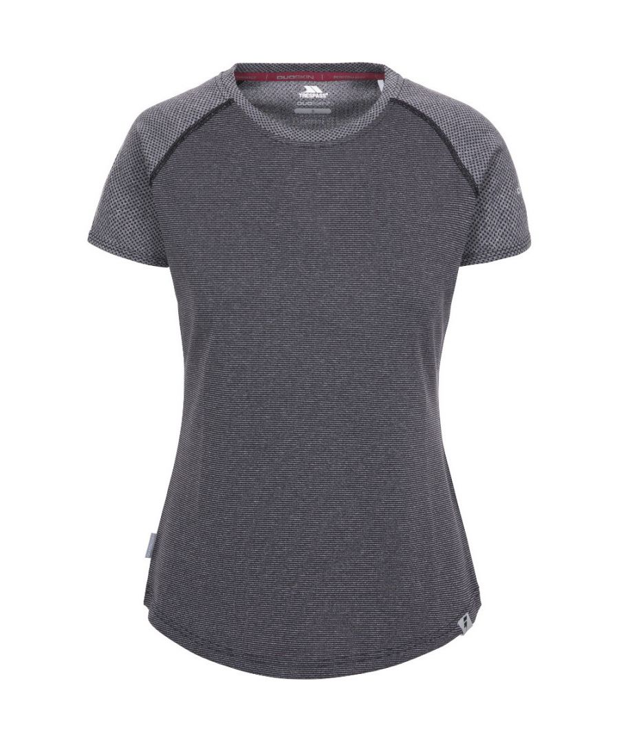 Image for Trespass Womens Maddison Sweat Wicking Crew Neck Gym Top