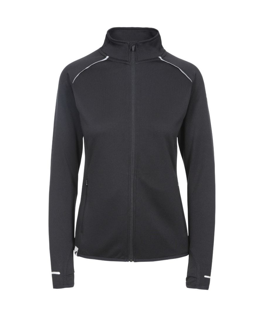 Image for Trespass Womens Evie Sweat Wicking Full Zip Gym Top
