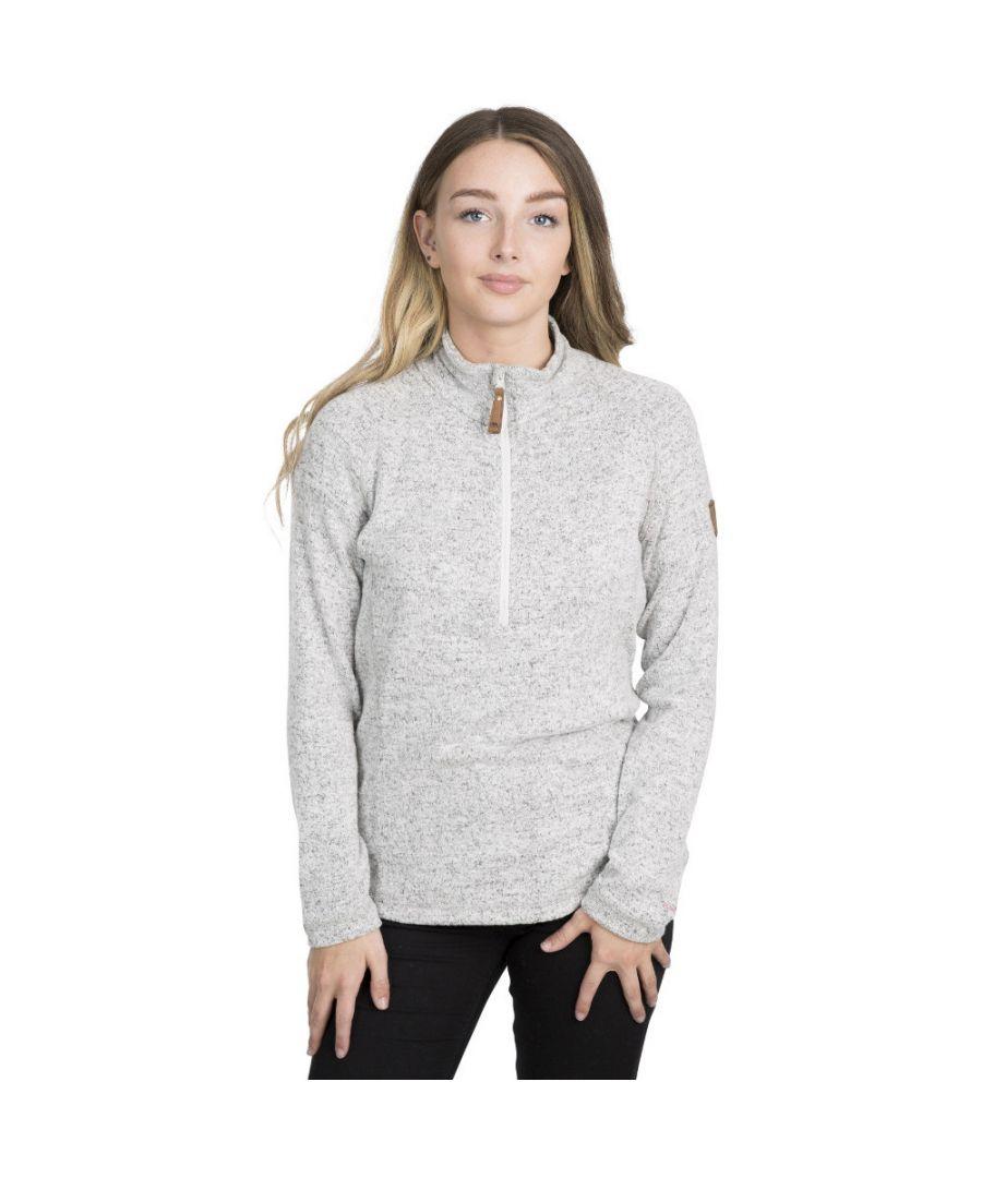 Image for Trespass Womens Tenderness Knitted Half Zip Fleece Jacket