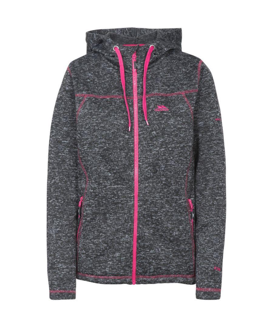 Image for Trespass Womens Odelia Full Zip Knitted Fleece Hoodie