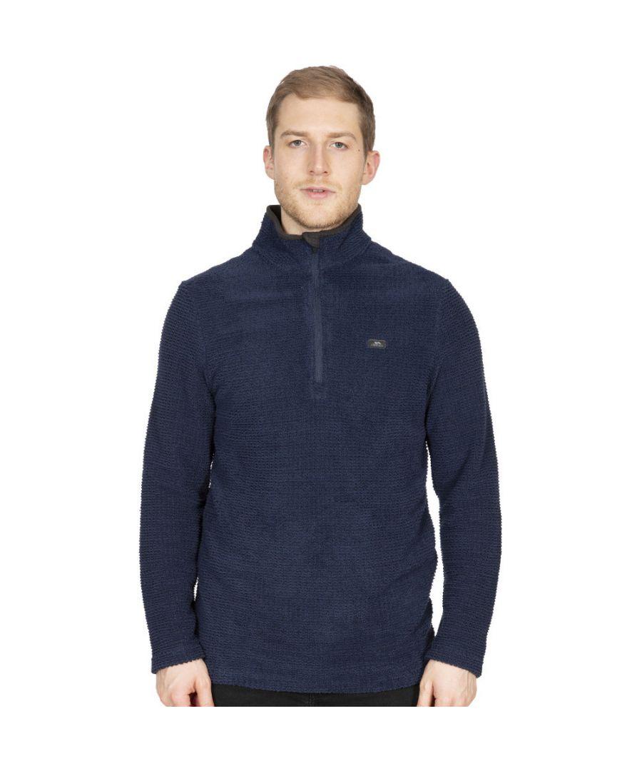 Image for Trespass Mens Nillsee Half Zip Textured Fleece Jacket