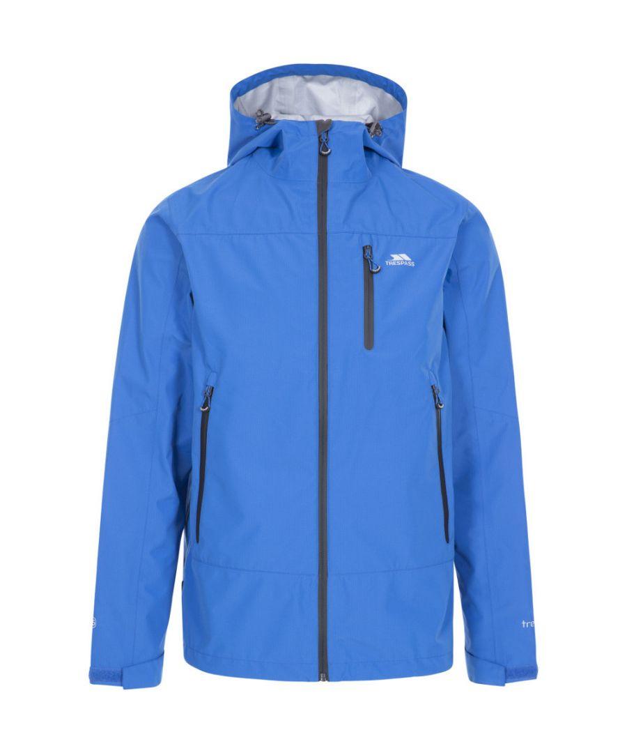 Image for Trespass Mens Rakenfard Breathable Waterproof Hooded Jacket
