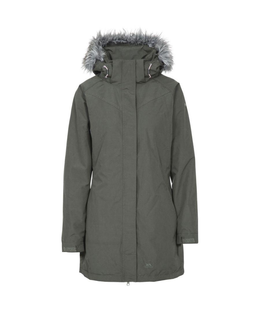 Image for Trespass Ladies San Fran Faux Waterproof Fur Trim Parka Coat