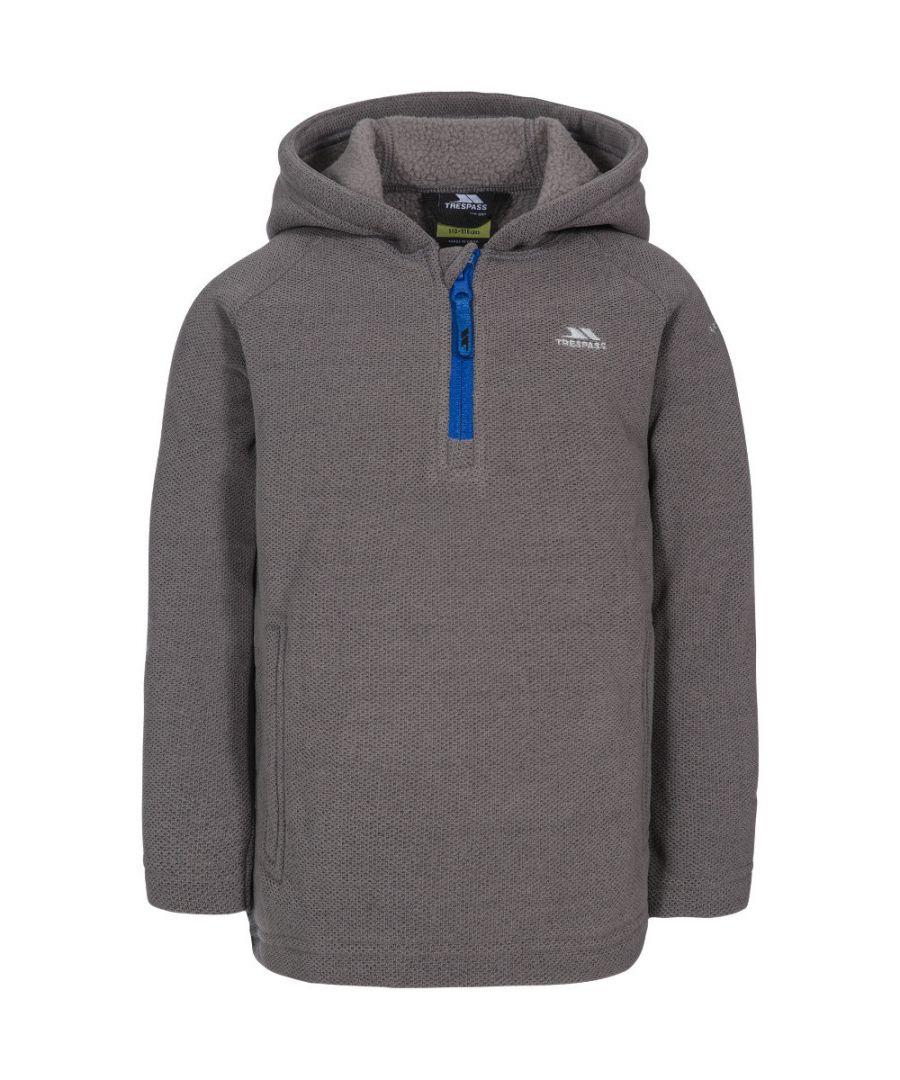 Image for Trespass Boys Thunda X Half Zip Fleece Hooded Jacket