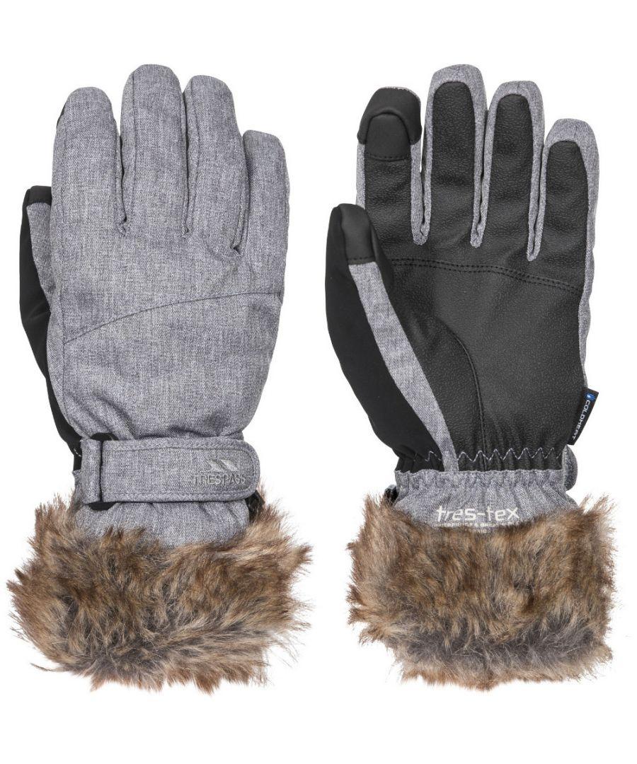Image for Trespass Womens Shiloh Lightly Padded Adjustable Ski Gloves