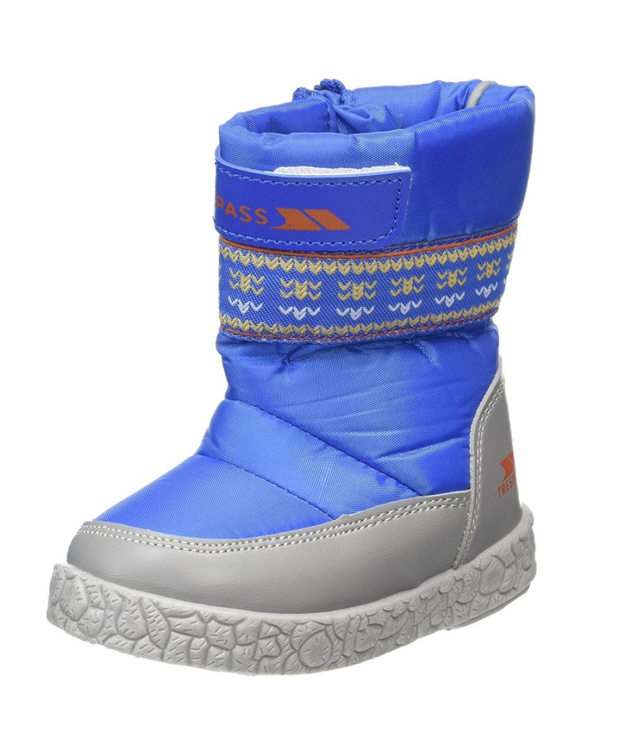 Image for Trespass Boys Alfred Waterproof Breathable Fleece Line Snow Boot Royal
