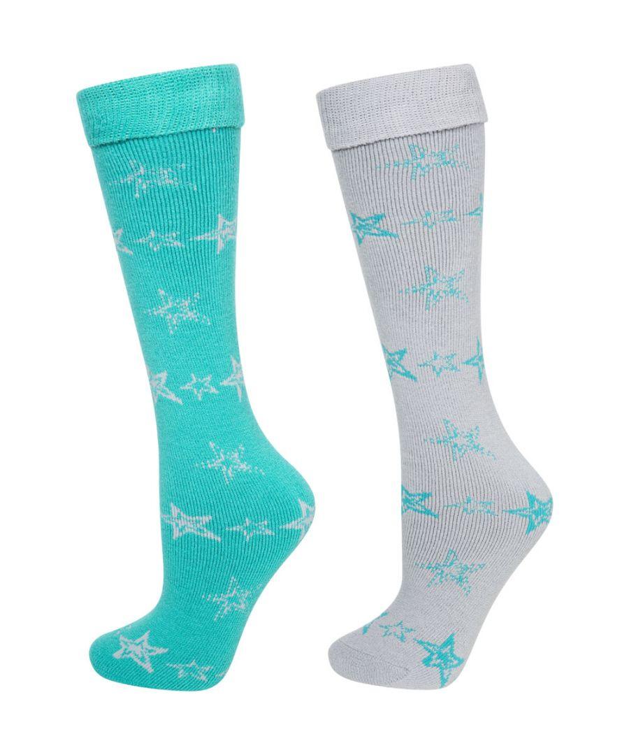 Image for Trespass Ladies Luv Ski Tube Sock 2 Pack Snow Sport Socks