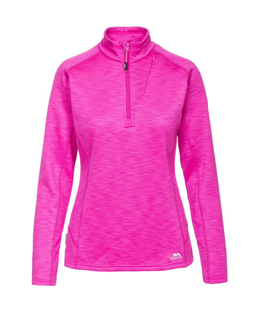 Image for Trespass Ladies Fairford Half Zip Mid Weight Fleece Top