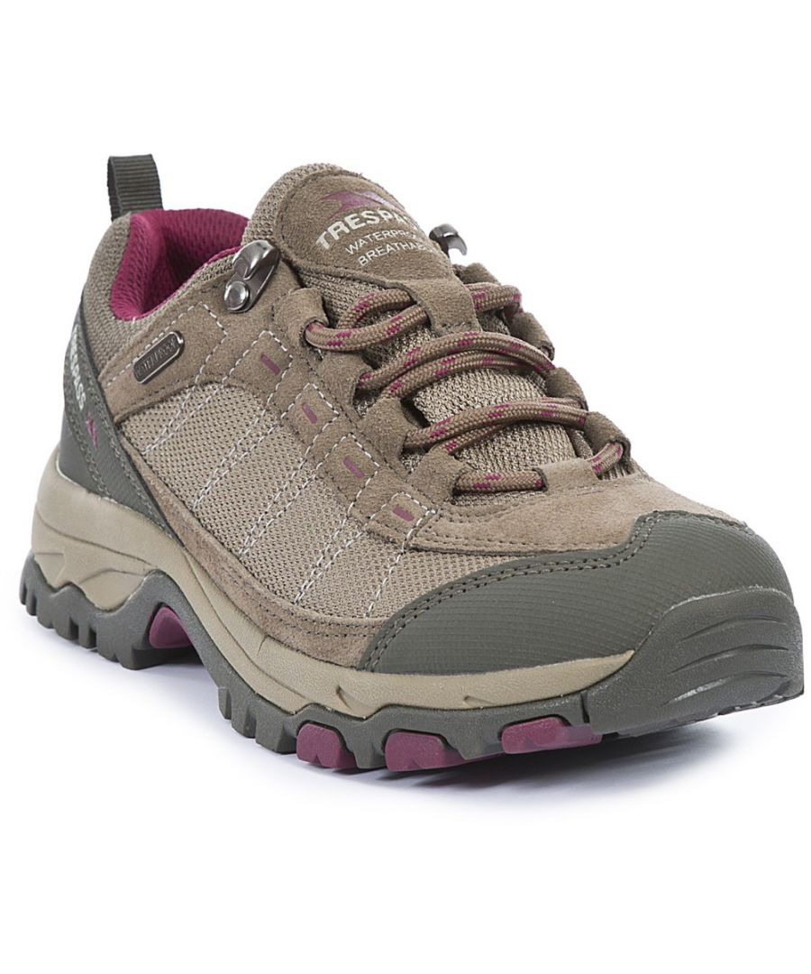 Image for Trespass Ladies Scree Waterproof Breathable Walking Shoes