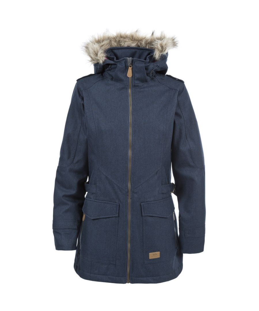 Image for Trespass Ladies Everyday Waterproof Padded Faux Fur Trim Jacket