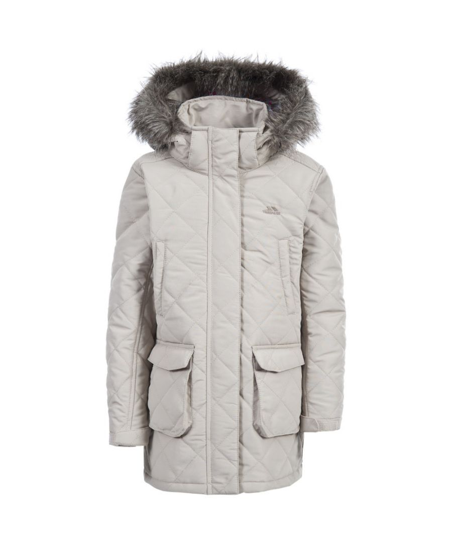 Image for Trespass Girls Reep Synthetic Insulated Quilted Fur Hood Jacket