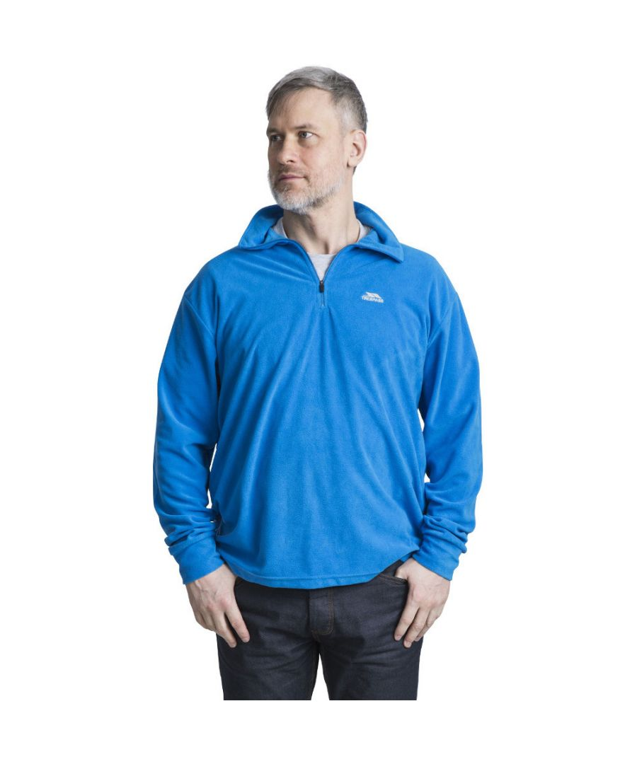 Image for Trespass Mens Masonville Lightweight Half Zip Midlayer Fleece Top