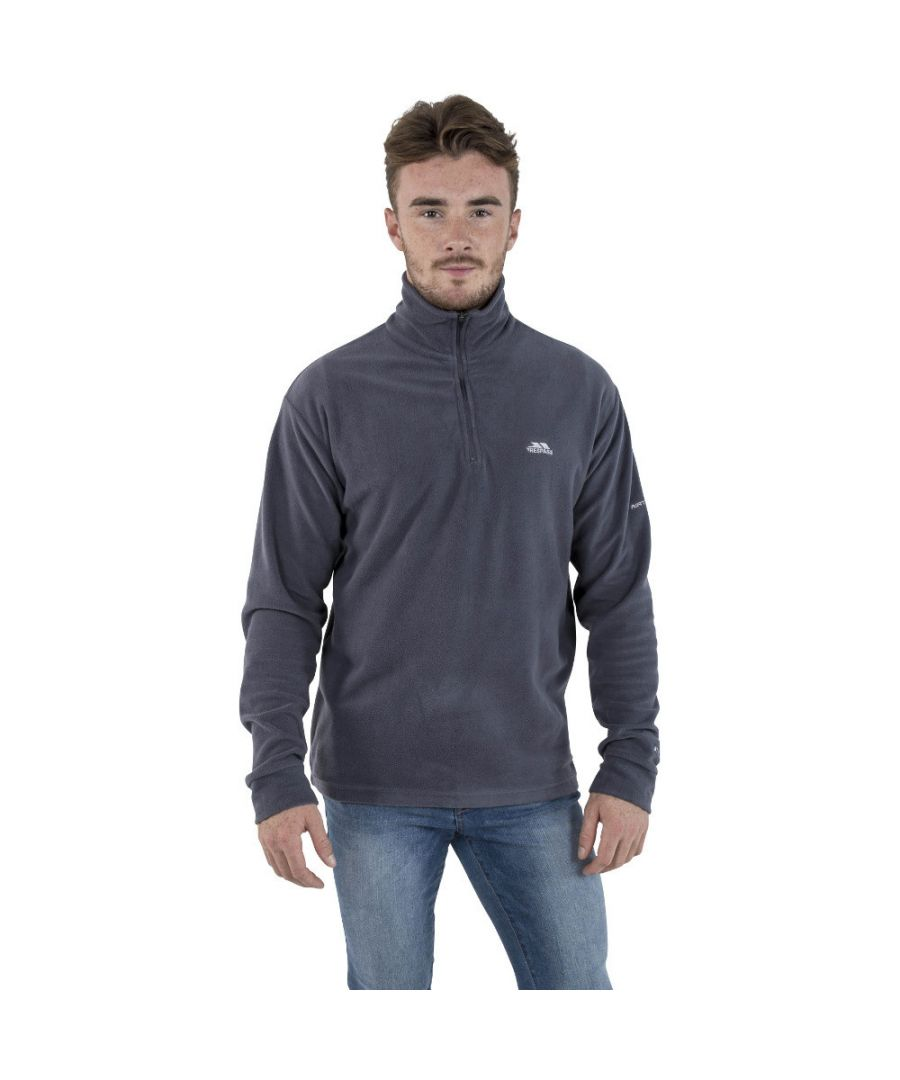 Image for Trespass Mens Masonville Lightweight Half Zip Midlayer Fleece Top