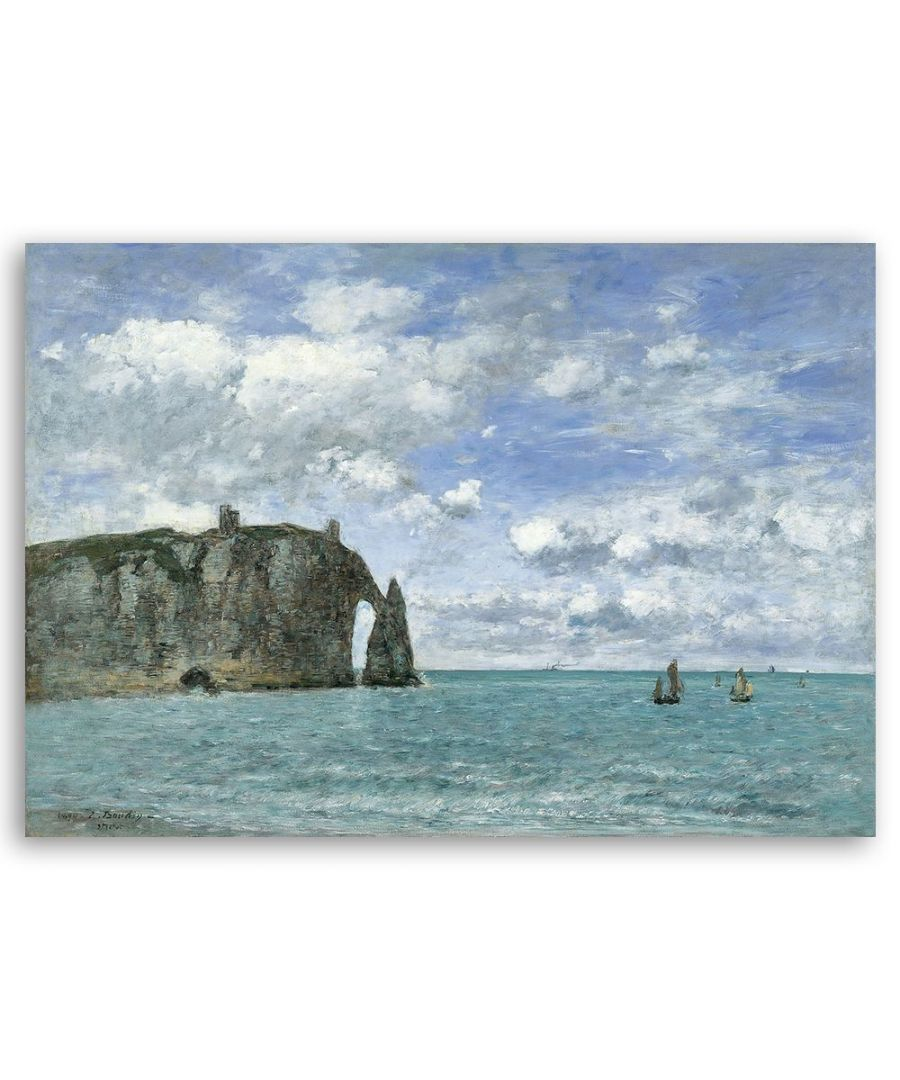 Image for Canvas Print - Tretat. La Falaise D'Aval - Eugène Boudin Cm. 50x70