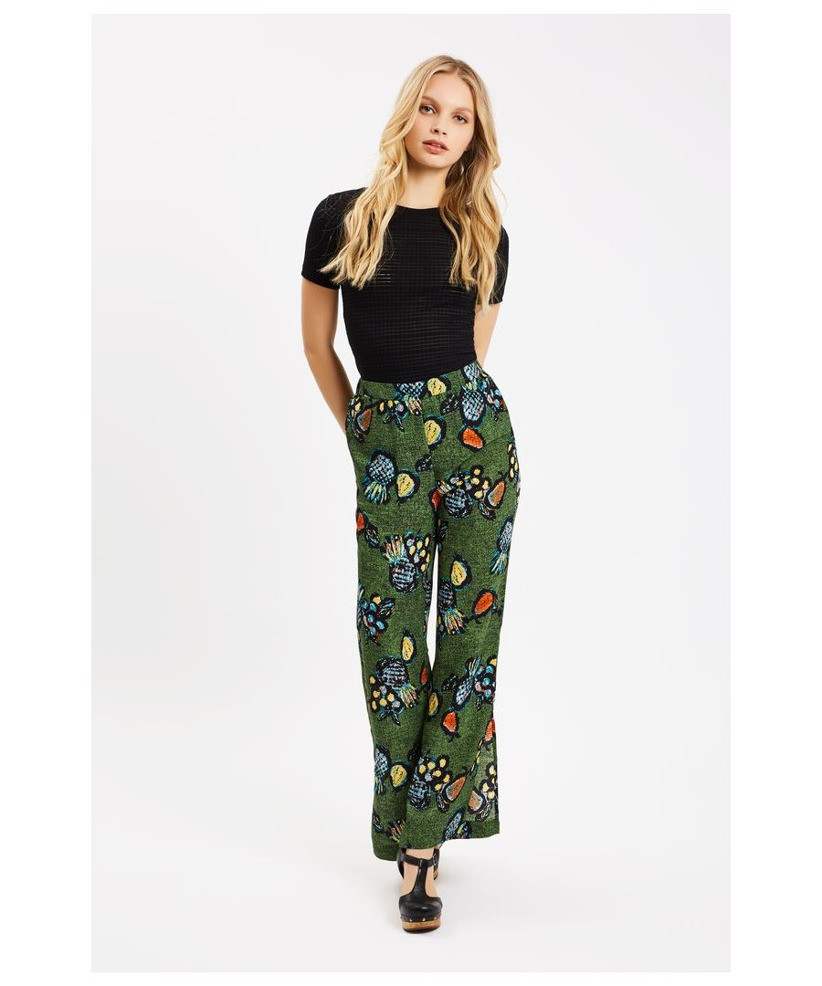 Image for Tropicana Two Face Printed Trouser in Green