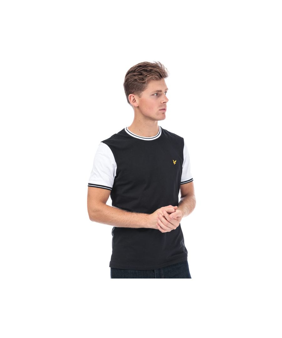 Image for Men's Lyle And Scott Tipped T-Shirt in Black-White