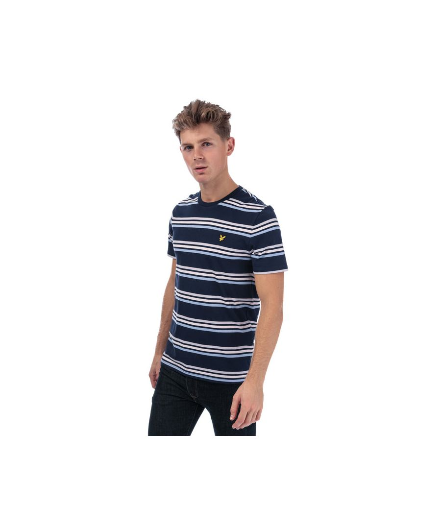 Image for Men's Lyle And Scott Multi Stripe T-Shirt in Navy