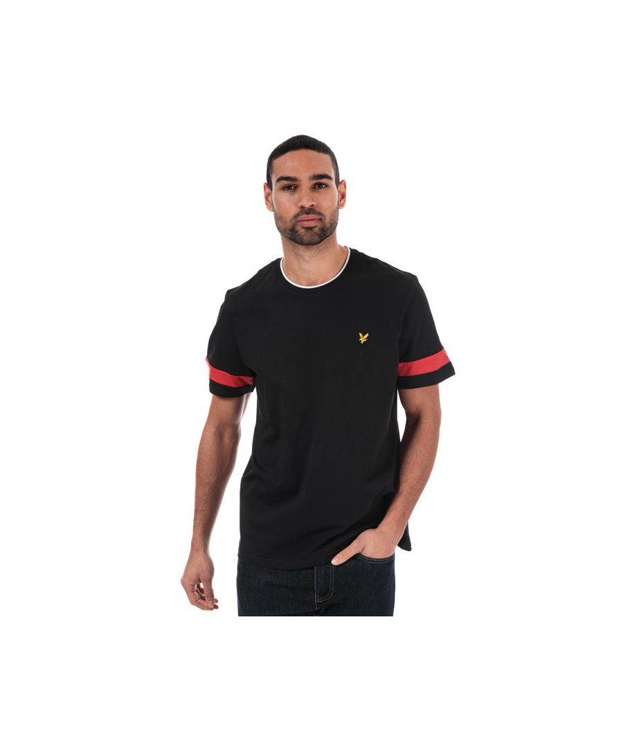Image for Men's Lyle And Scott Tipped T-Shirt in Black