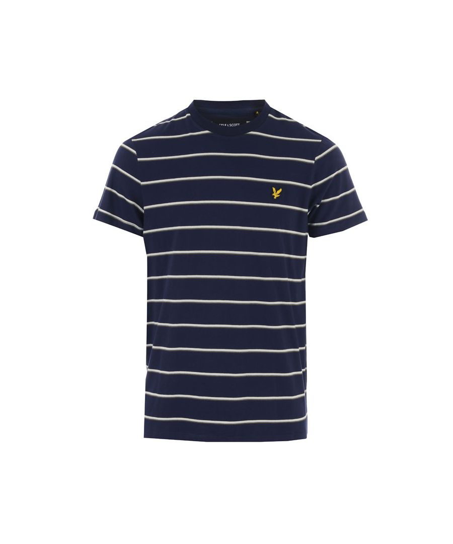 Image for Men's Lyle And Scott Stripe T-Shirt in Navy