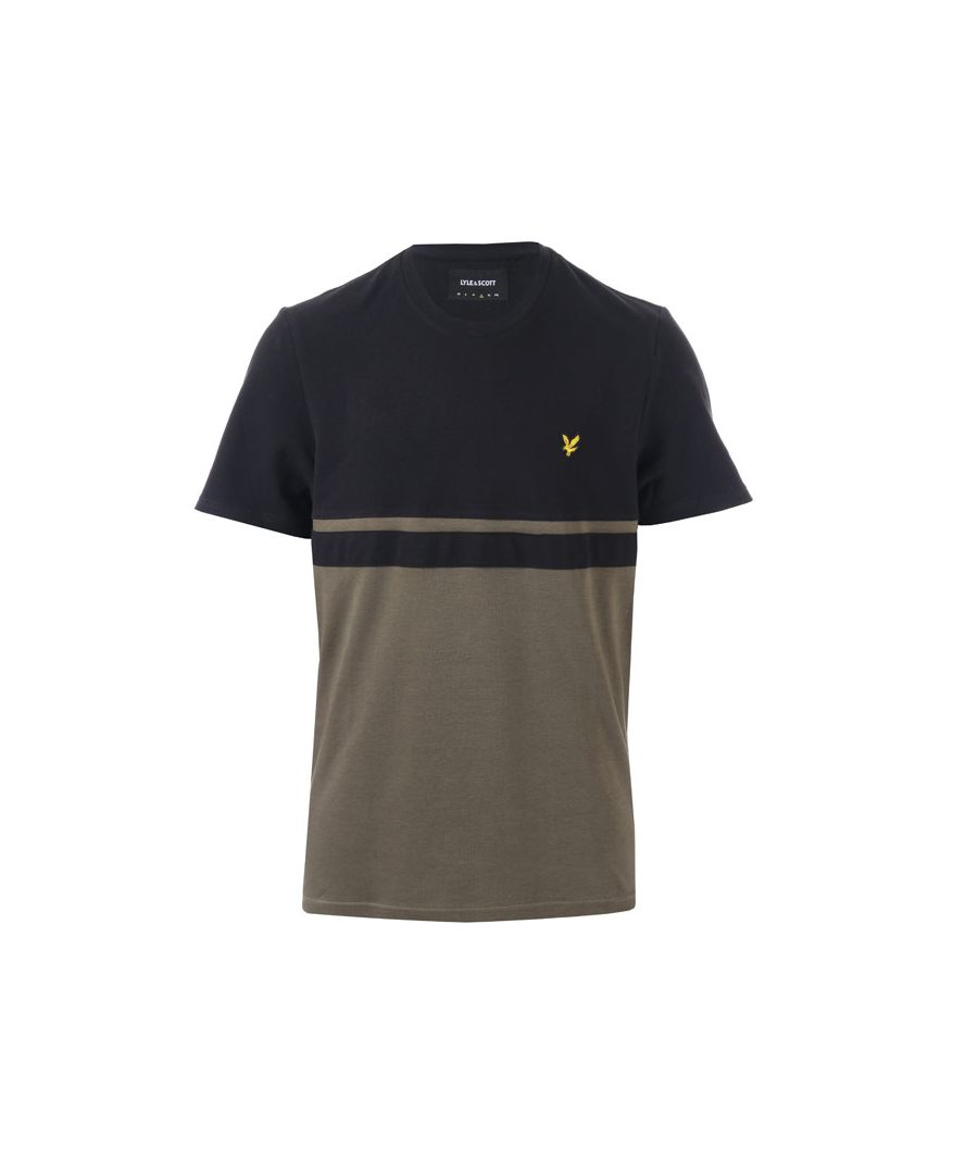 Image for Men's Lyle And Scott Panel Stripe T-Shirt in black green