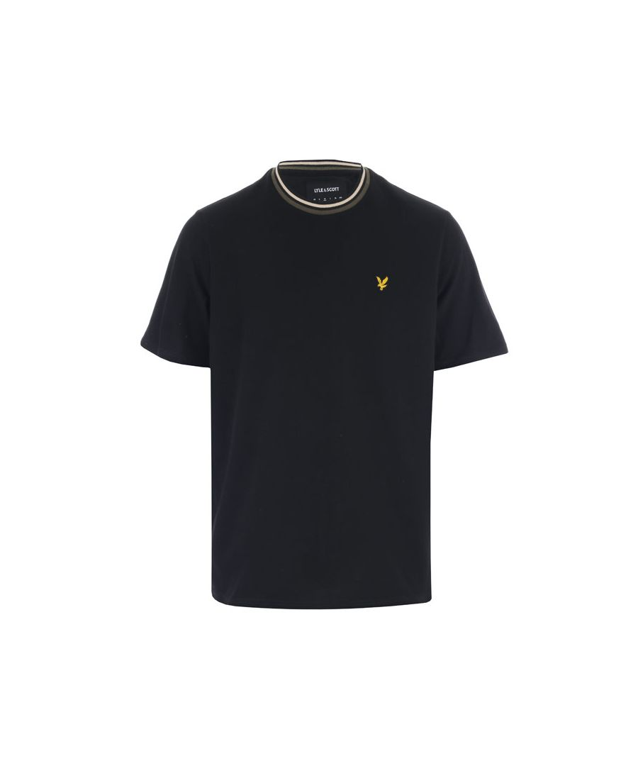 Image for Men's Lyle And Scott Multi Rib T-Shirt in Black