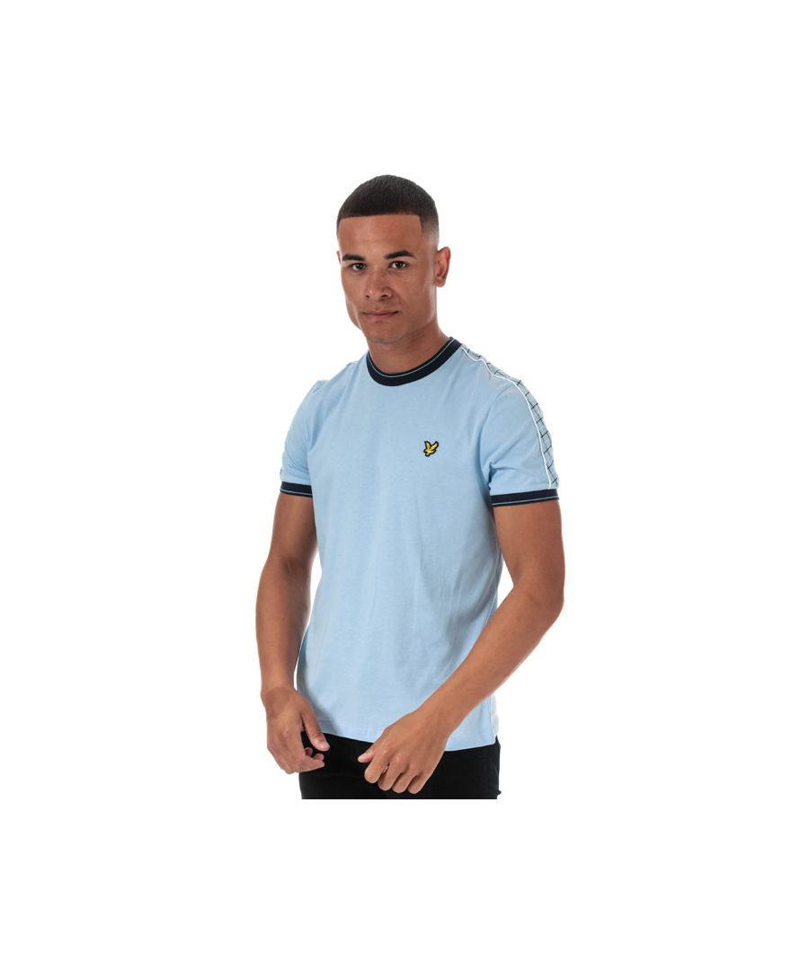 Image for Men's Lyle And Scott Taped Ringer T-Shirt in Blue