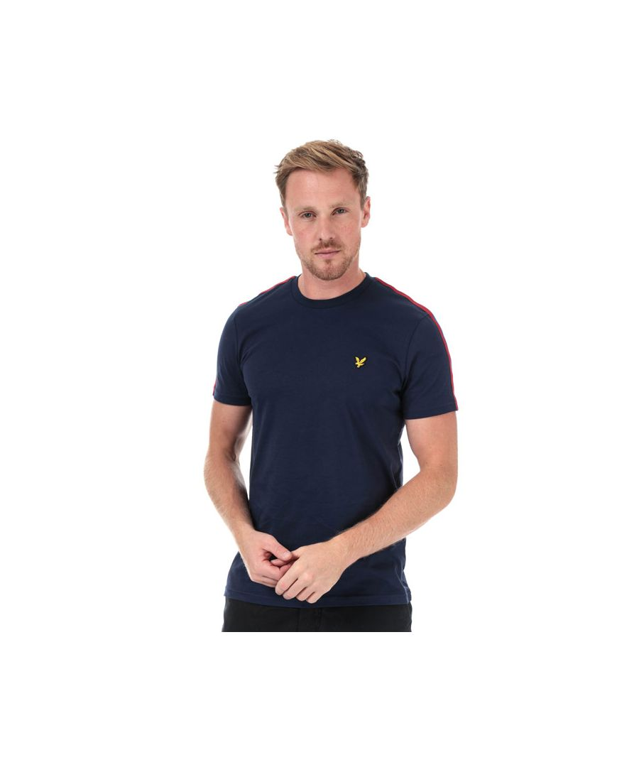 Image for Men's Lyle And Scott Taped T-Shirt in Navy Red