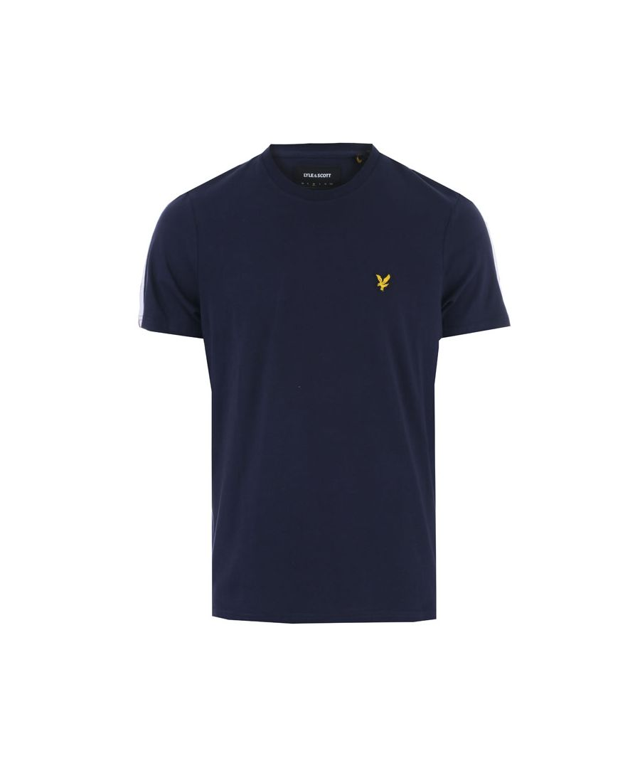 Image for Men's Lyle And Scott Taped T-Shirt in Navy