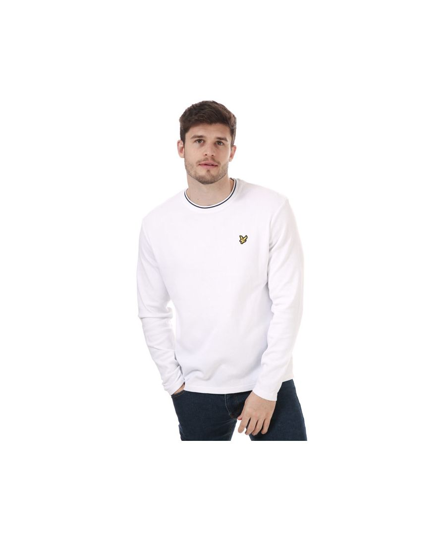Image for Men's Lyle And Scott Waffle Long Sleeve T-Shirt in White