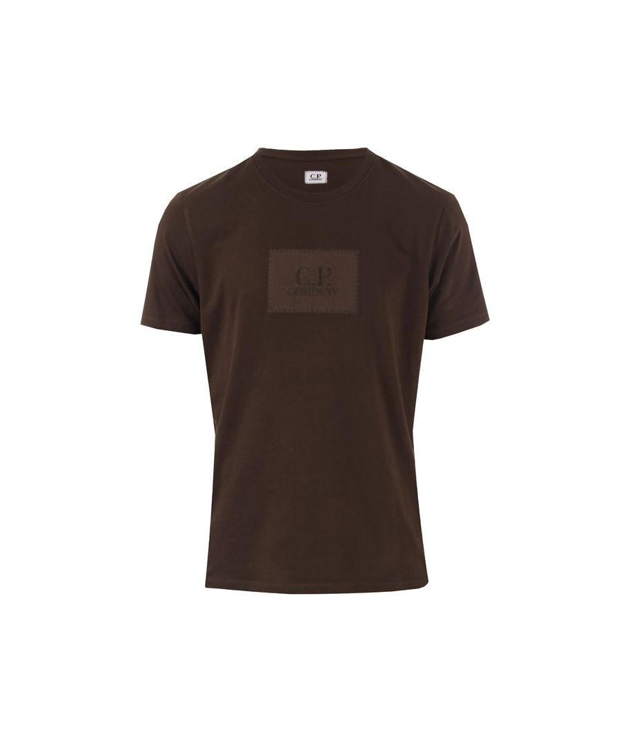 Image for Men's C.P. Company Small Block Logo T-Shirt in Khaki