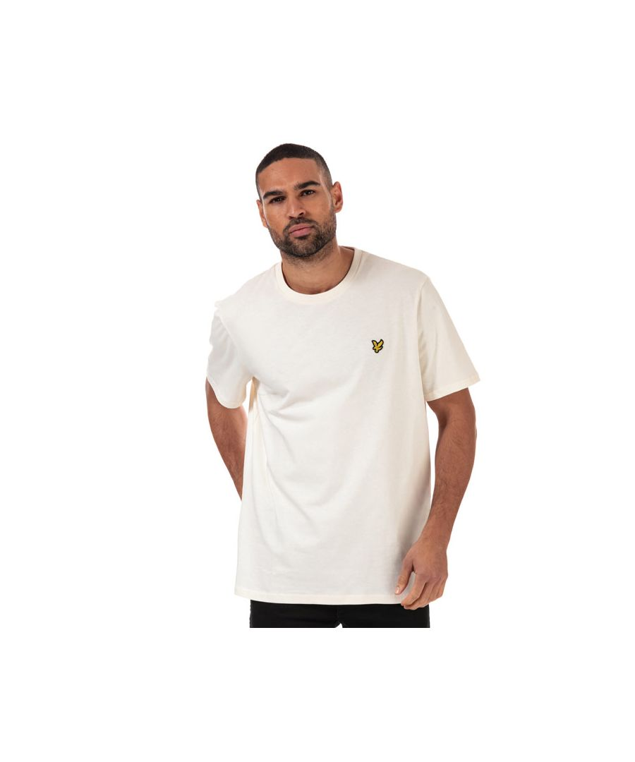Image for Men's Lyle And Scott Plain T-Shirt in Cream