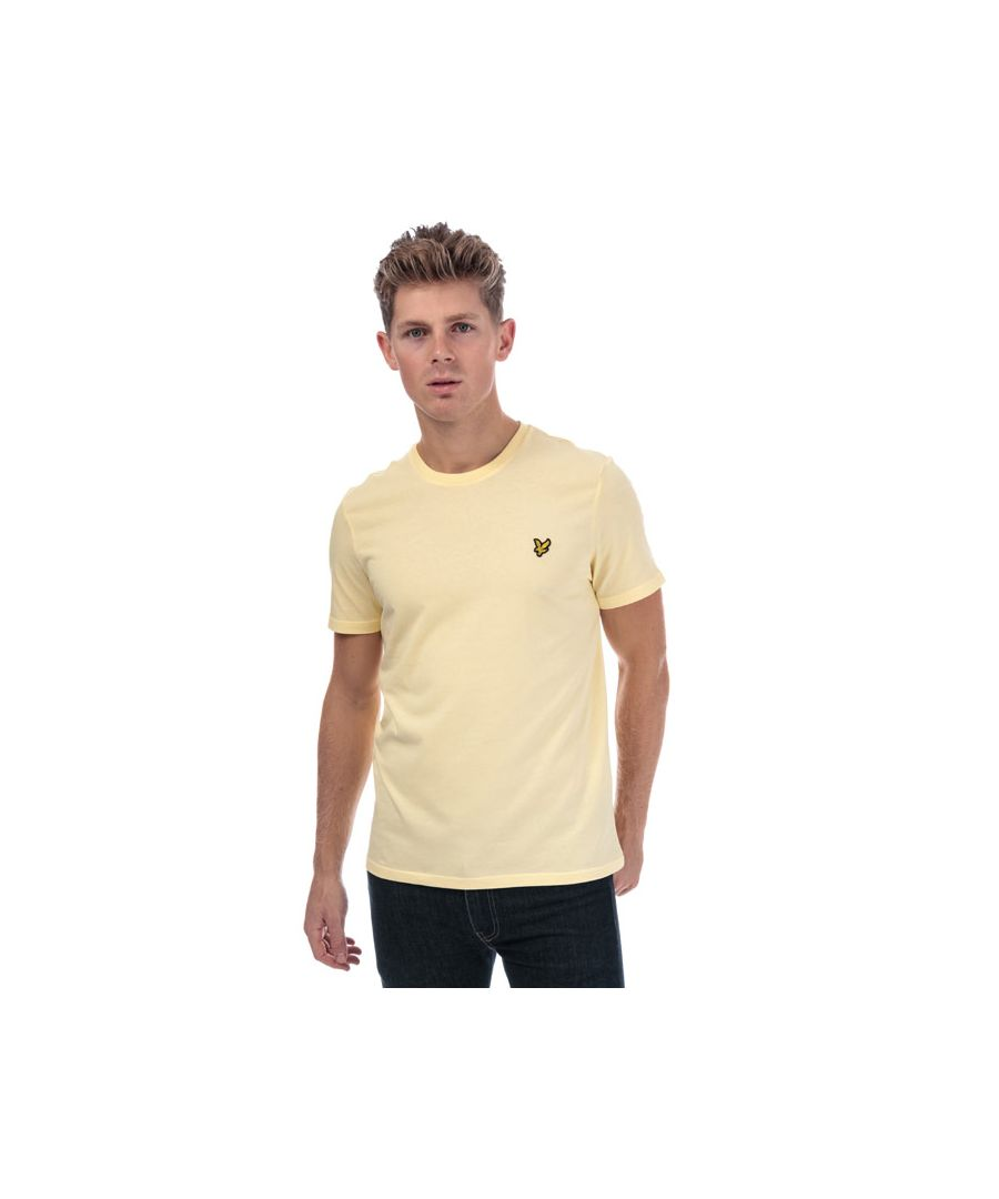 Image for Men's Lyle And Scott Crew Neck T-Shirt in Yellow