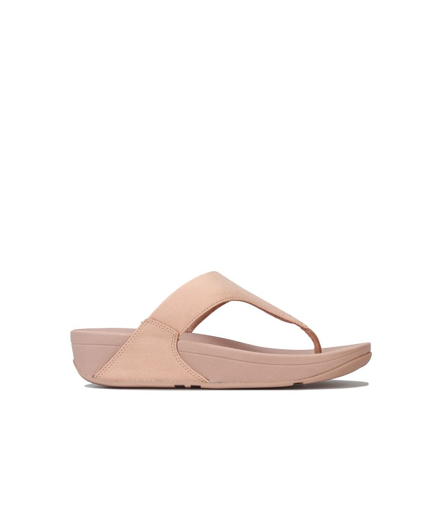 Image for Women's Fit Flop Lulu Shimmer Toe Thong Sandals in Rose Gold