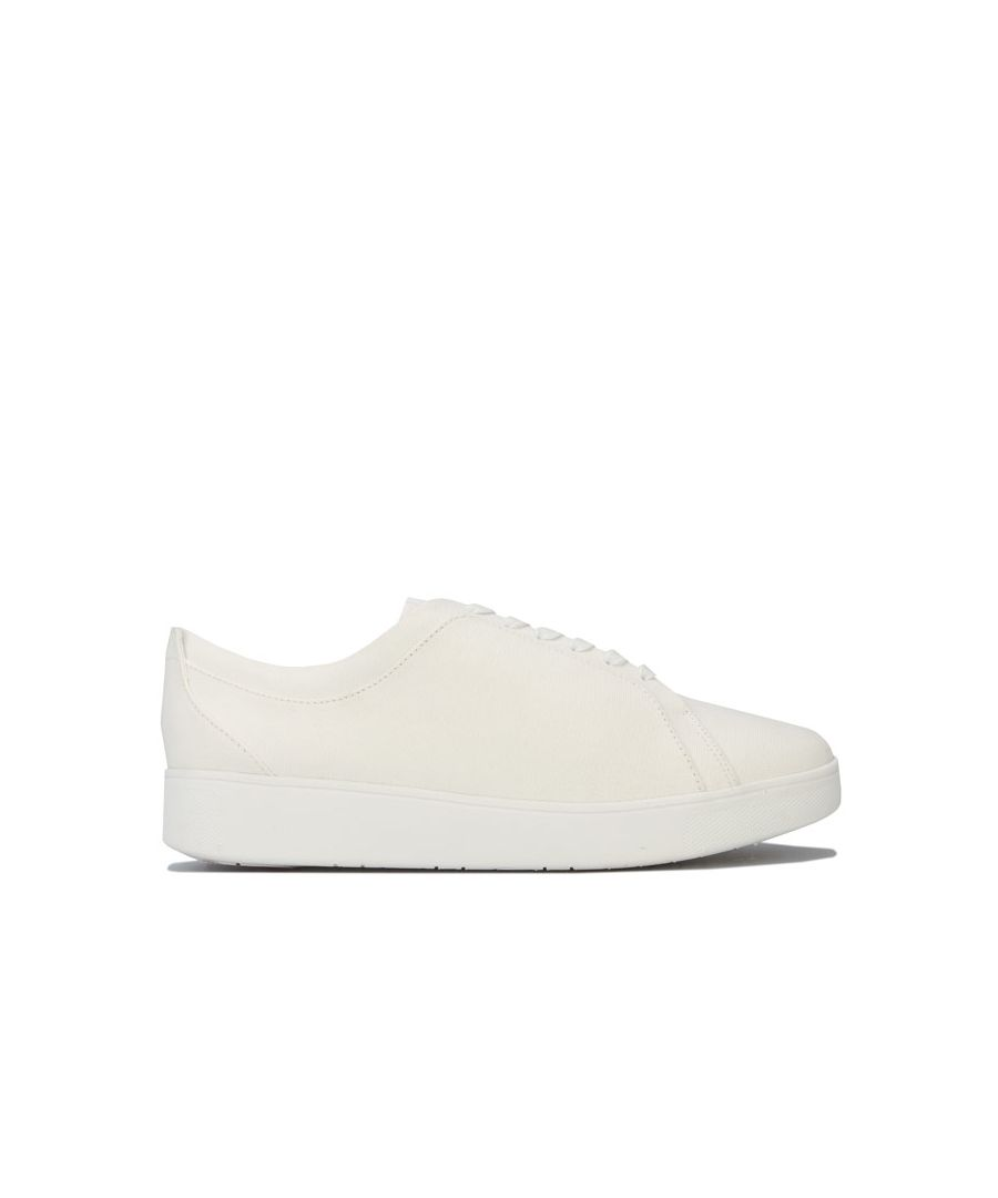 Image for Women's Fit Flop Rally Denim Trainers in White