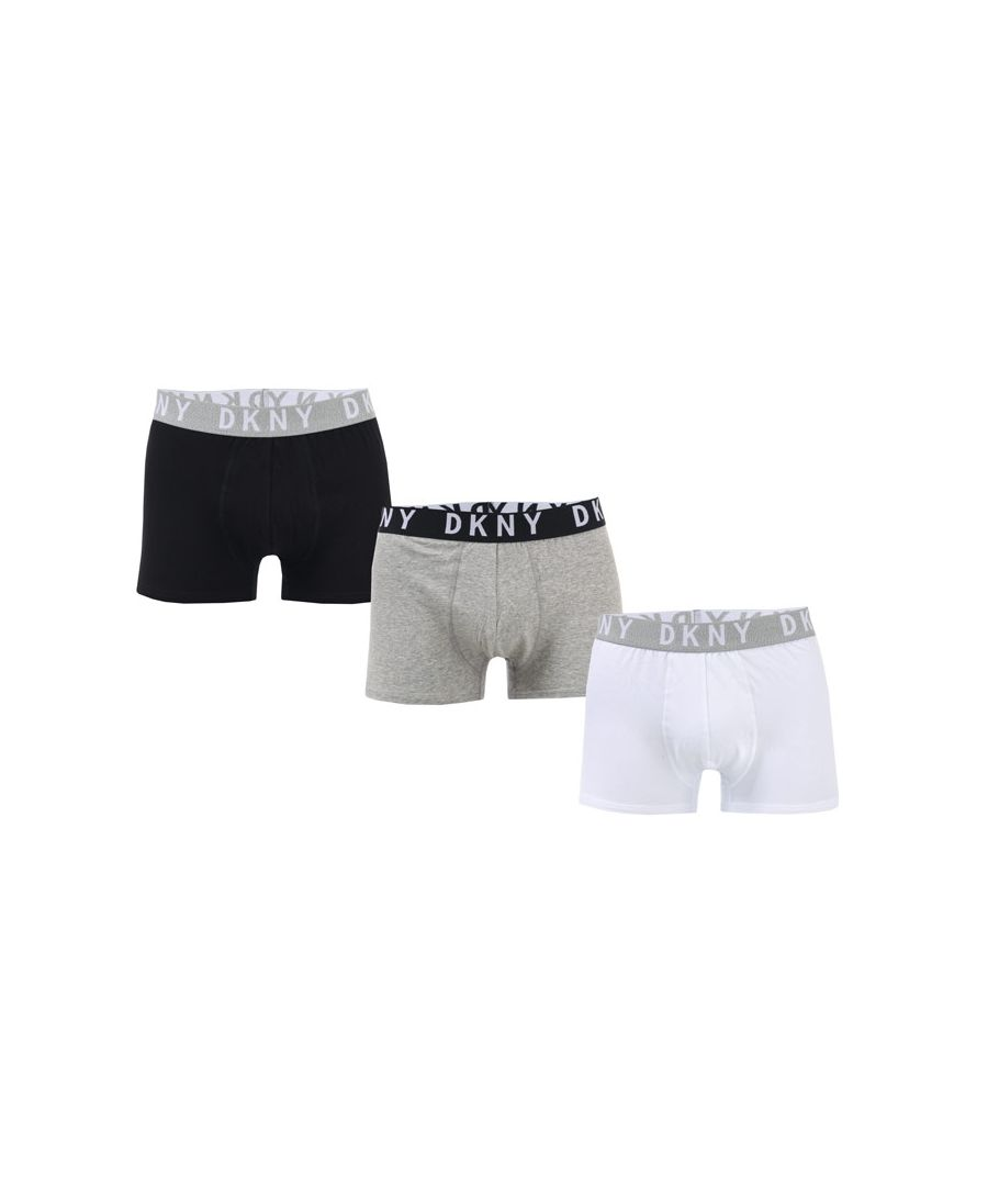 Image for Men's DKNY Seattle 3 Pack Boxer Shorts in Black Grey White