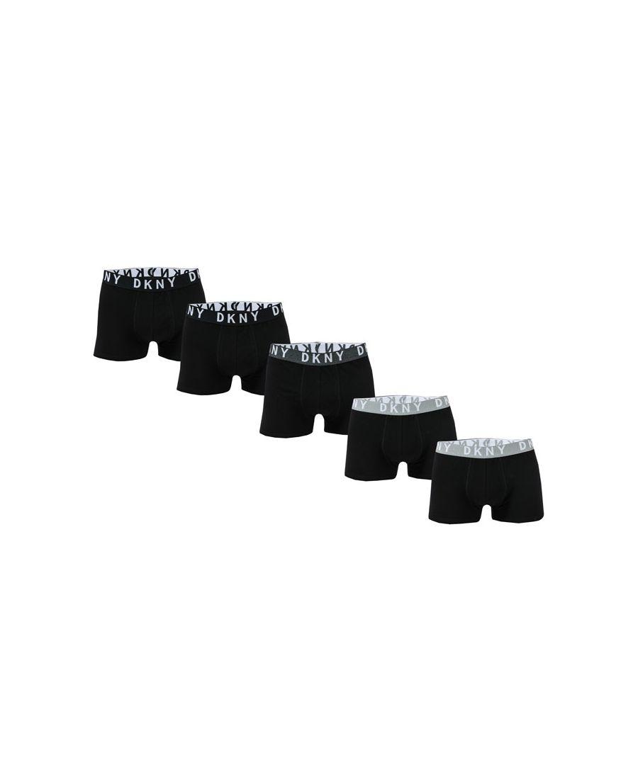 Image for Men's DKNY Portland 5 Pack Boxer Shorts in Black