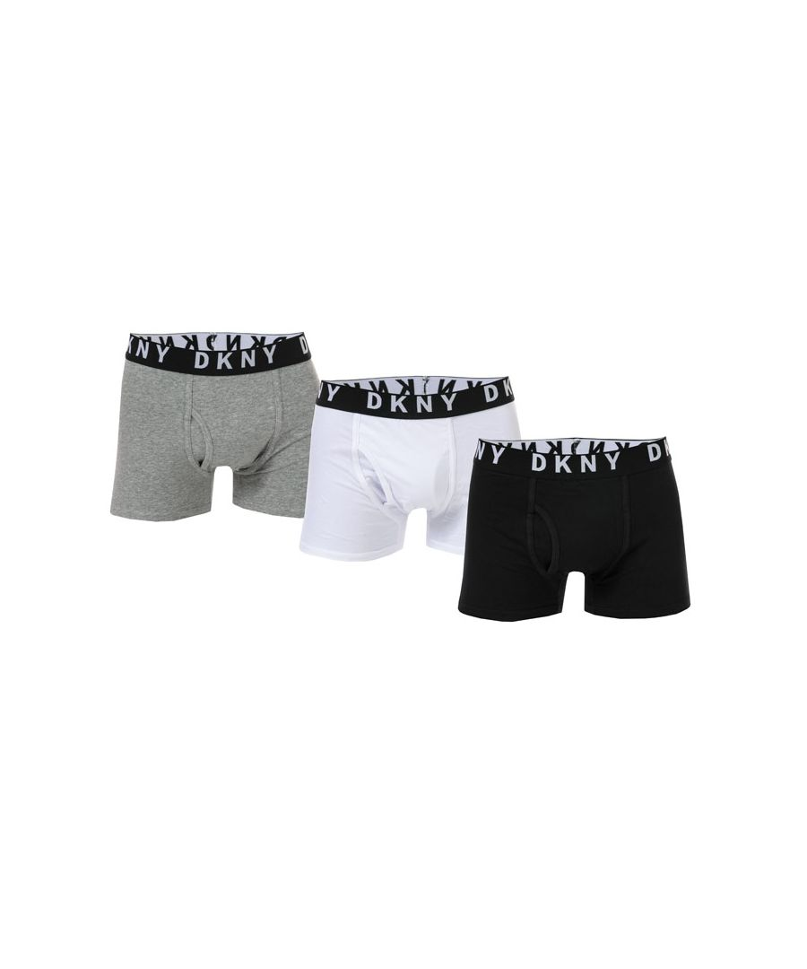 Image for Men's DKNY Las Vegas 3 Pack Boxer Shorts in Black Grey White