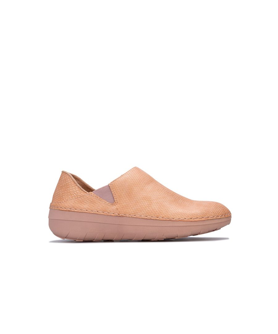 Image for Women's Fit Flop Superloafer Shimmersnake Shoes in Nude