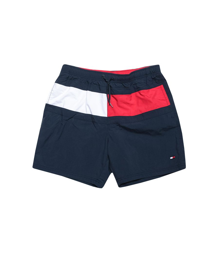 Image for Boy's Tommy Hilfiger Junior Signature Swim Shorts in Navy