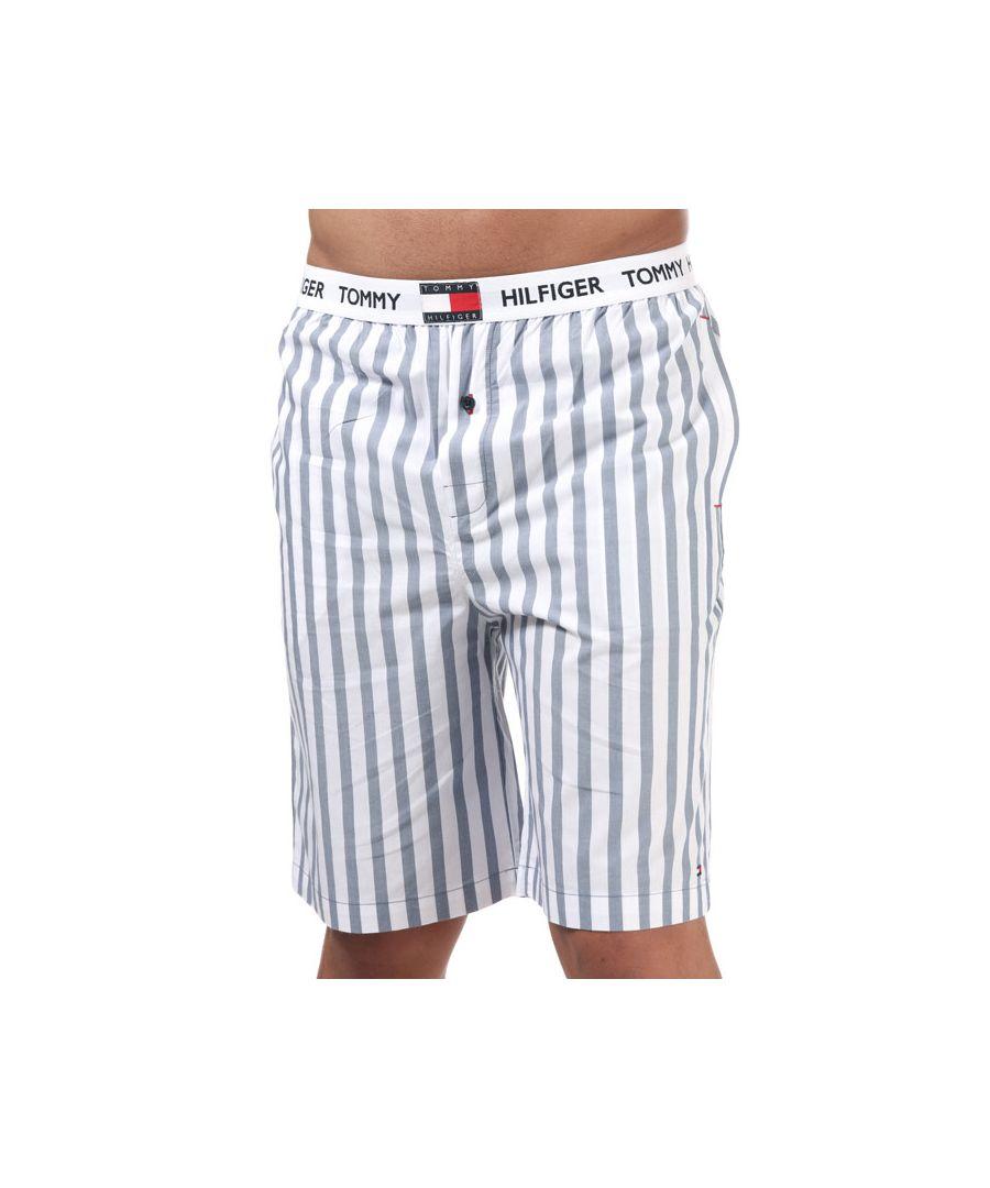 Image for Men's Tommy Hilfiger Woven Stripe Shorts White blue Sin White blue
