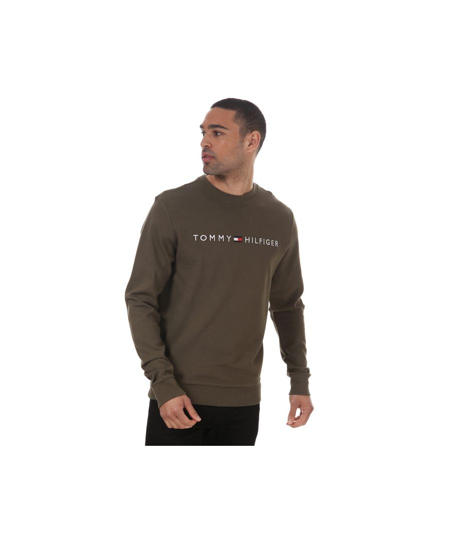 Image for Men's Tommy Hilfiger Logo Embroidery Organic Cotton Sweatshirt Green Sin Green