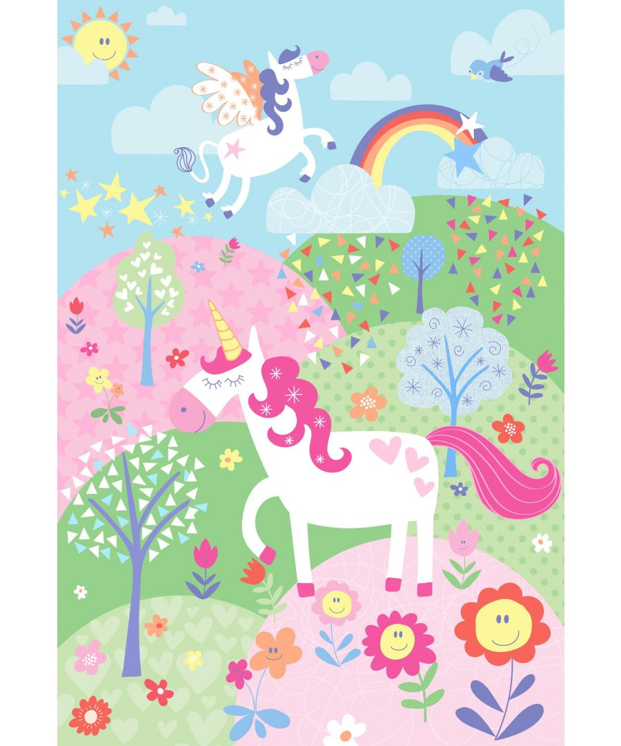 Image for Unicorn Wall Mural Pink