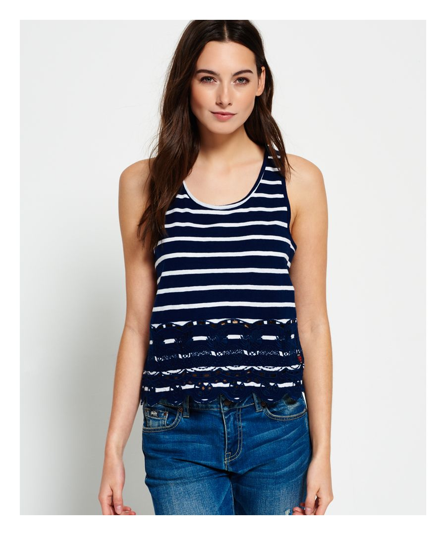 Image for Superdry Shore Broderie Shell Top