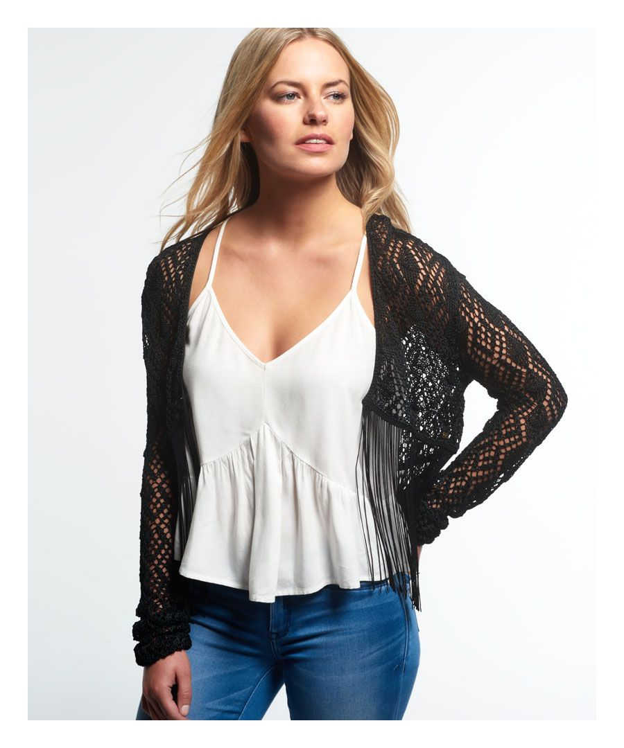 Image for Superdry Sophia Fringe Cardigan
