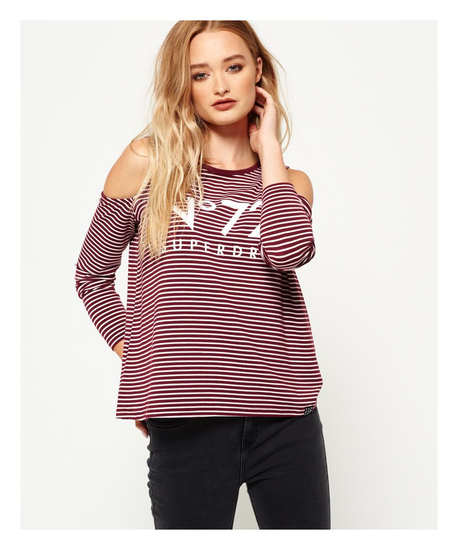 Image for Superdry Cold Shoulder Graphic Top